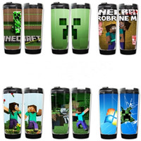 Wholesale My world Minecraft accompanying cup coolie afraid wheat block JJ blame anime cup cute travel mug starbucks TT39621218579 HX