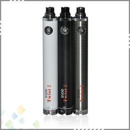 Torsion ii à vendre-Vaporisateur Evod Twist 2 Batterie tension variable EGO Batterie Evod Twist II batterie avec 510 fil vapeur 1600mAh de hugh DHL gratuit