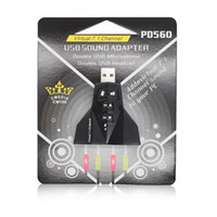 Wholesale New Arrival Aircraft type USB Sound Card Professional External Sound Card For Windows ME XP Server