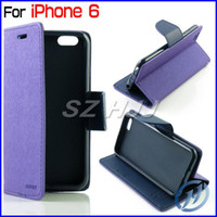For iPhone6 Case Mercury Wallet Leather Case With Card Slot ...