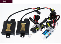 al por mayor bombillas de conversión de xenón-55W HID Xenon Linterna Kits H1 H7 4300k 6000k 8000k 10000k Coche Bombillas LED Conversión High / Low Beam halógena Envío Gratis