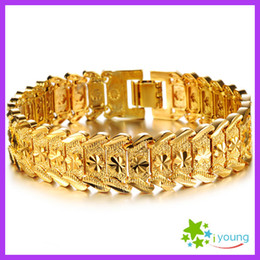 Wholesale Fashion Jewelry Mens Accessories k Gold Plated Adjustable Bracelets Upper Arm Wedding Bangles Engagement Gift Male Hand Chain