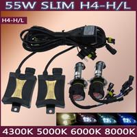al por mayor 55w h13-55W de Conversión HID Xenon Kits de Faros H4 H13 9004/9007 4300k 6000k 8000k 10000k Alto/Bajo de Halógeno para casi todos los automóviles