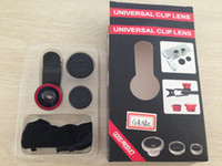 Wholesale New Universal in1 in Clip On Fish Eye Lens Wide Angle Macro Phone Lens For iPhone Samsung Galaxy S4 S5 All Phones fisheye