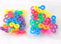 Clasps & Hooks plastic Chirstmas Free shipping 1000sets lot (24pcs set) colorful S and C clips diy loom bands bracelet wholesale 7 color mixed colorful S C clips