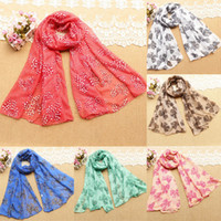 Wholesale 2014 New Printed Voile Scarf Shawl Bow Long Section CM Muslim Women Headscarf