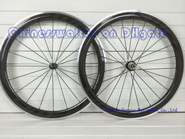 Wholesale FFWD wheelset super light Alloy brake surface wheels full carbon road bike wheelset mm with Powerway R36 straight pull carbon hubs