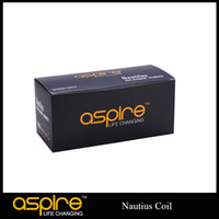 1.6ohm&1.8ohm 5pcs/pack 10packs/box Aspire Nautilus Cleaomizer Original Aspire Nautilus Coil Heads For Nautilus replacement Atomizers Rebuildable Atomizers Core Electronic Cigarette DHL Free