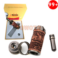 Replaceable 3.0ml Mahogany & Antique Brass E Fire 510 Tank N Fire Atty Adjustable Airflow Dual Coil Electronic Cigarette Atomizer Kits for X E Fire Ego Vision Twist You Chi Mod TOWOTO