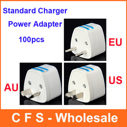 100pcs Standard Universal EU US AU Travel Power Adapter Charger Connector Free shipping High Quality Free shipping