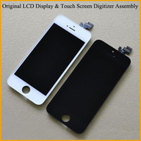 For Apple iPhone   Full Original LCD Display & Touch Screen Panels Replacement Digitizer Assembly For iPhone 4 CDMA 4S 5 5S 5C Cell Phone Parts with Retail Box