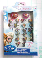 Plastic animations steel jewelry - 4 Box Acrylic Rings ring lovely animation cartoon child s Frozen rings jewelry jewellery