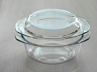 Wholesale 1500ml tempered and heat resistant glass casserole three volume available