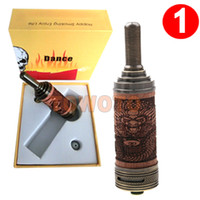 Replaceable 3.0ml Mahogany & Antique Brass E Cig Wooden Mod Pirate Tank Adjustable Airflow Dual Coil Rebuildable Skull Atomizer Kits for X E Fire Ego Vision Twist You Chi Mod TOWOTO