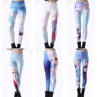 Wholesale Details about Hot Sexy Women Lady Frozen Printing Leggings Girl s pants Pencil Pant Trousers