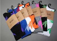 Wholesale Free DHL shipping pairs Comfortable Plantlife Socks Fashion Skate Board Weeds Socks Athletic Socks