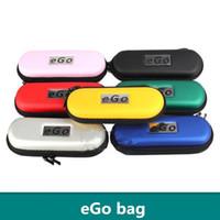 Wholesale eGo bag Coloful Portable Ego Zipper Carry Case E Cigarette single double kit ego t ce4 ce5 KANGER EVOD mt3 ego vapor e cig zipper case