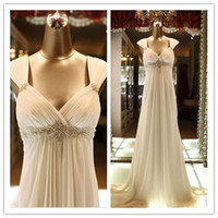 Real Images Sweetheart Empire Maternity Dresses Chiffon Bead...