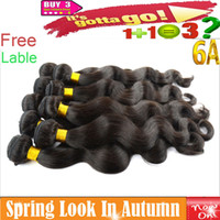 Wholesale Virgin Brazilian Human Hair Extensions Unprocessed A Best Peruvian Indian Malaysian Remy Hair Weave Body Wave Free Lable Accept Returns