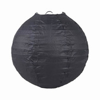 Wholesale Black Handmade Chinese Paper Lanterns For Wedding Party Christmas Ornament Size Choose ZWZ6