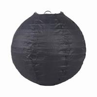 Bon Marché Lantern-Noir main lanternes chinoises en papier pour l'ornement de Noël de soirée de mariage Taille Choisissez ZWZ6 * 20