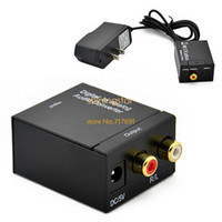 Wholesale 2014 New Digital Optical Coaxial Optical To Analog RCA Audio Converter Adapter B16 SV001075