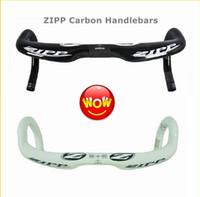 Wholesale Hot ZIPP VUKA SPRINT CARBON FIBER ROAD BIKE HANDLEBAR mm Bicycles Carbon Stem Racing Handlebars Short And Shallow Version