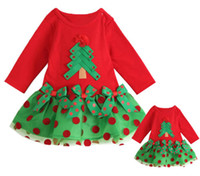 TuTu Spring / Autumn A-Line 2014 New Baby Girl Dress Christmas Sleeve Polka Dot One-piece Coat Shirt Dress Clothes DH04