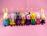 Wholesale 2014 New Fashion Hot Design Peppa George pig Friends Set Cartoon Stuffed Plush Doll Toys cm Baby Kids Toys Birthday Gift F95