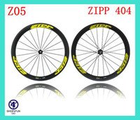 Wholesale Z ipp mm Tubular Clincher c full carbon road bike wheels racing bicycle Wheelset K glossy matte with Brake pads Quick release