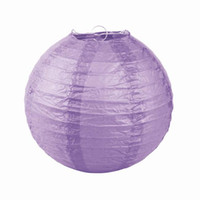 Lantern Holiday  Light Purple Handmade Chinese Paper Lanterns For Wedding Party Christmas Ornament Size Choose ZWZ11*20