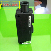 Wholesale Mini Handheld x x Pocket Microscope Magnifer Loupe