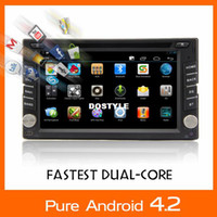 Wholesale Two Dins Universal Car DVD Player Pure Dual core android OS Capacitive Touch Screen Audio Video System built in WIFI Radio GPS Navi