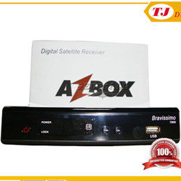 Wholesale High Quality Hot Azbox Bravissimo Satellite Receiver HD twin tuner Has Free SKS and IKS Support Nagra3 Decoder Linux OS for Brazil