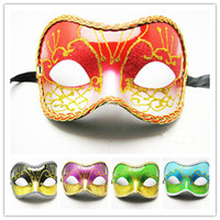 Wholesale Half face Masks For Wedding Glitter Painted With Lace Party Accessories For Women Festive and Party Supplies