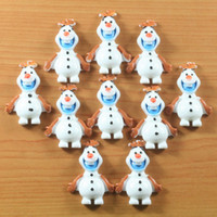 The Resin World Holiday Decoration & Gift TV & Movie Character Lot 50pcs Frozen Snow the Snowman OLAF Children Resin Flatbacks Scrapbooking Hair Bow Center Craft Making Embellishments DIY