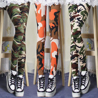 Wholesale 2014 Spring Autumn Fashion New Personality Cotton Sexy Pattern Camouflage Printing Printed Women Leggings Pants Popular Tights Pencil Pants