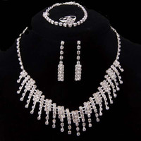 Wedding Jewelry Sets Celtic Gift High Quality Crystal Costume Claw Necklace Sets Silver Plate Fashion Women Party Claw Jewelry Sets
