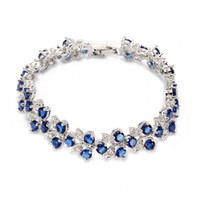 Wholesale Trendy Amethyst Cubic Zirconia fashion Silver Plated bracelet E672 Promotion Favourite Best Sellers Time limited discount