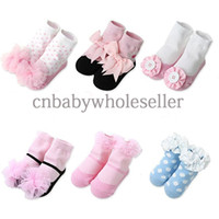 Wholesale 2014 New Baby Kids Socks Fall And Winter Princess Infant Sock Lacy Toddle Sock SC40827