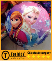Wholesale 2014 Frozen Balloon Peppa Pig Kids Cartoon Balloon Balloon helium balloons Decorative aluminum foil round birthday party