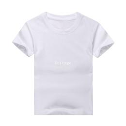 Wholesale 10pcs New Kids Plain Blank T Shirt Cotton Round Neck Color S M L XL XXL XXXL Dx109