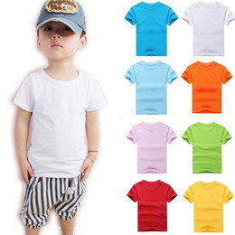 Wholesale New Kids Plain Blank T Shirt Cotton Round Neck Color S M L XL XXL XXXL Dx109