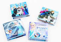 Wholesale Frozen notebooks multi style size cm anna elsa princess cartoon cover Memo Pad kids new term gifts school supplies pocket book H409