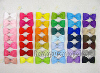 ribbons and bows - 50pcs Gril handmade Headwear Simple and easy inch grosgrain ribbon Bowknot Beautiful hair bows boutique hair clips accessories HD3210