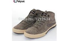 Men Cotton Fabric Rubber 2014 NEW Feiyue Sneaker Shoes Men and Women, for Martial Arts, Kung Fu, Wushu, Tai Chi, Barefoot| Classic Black High Top