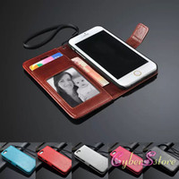 Wholesale iPhone Plus inch Vintage Retro Flip Folio Stand Wallet Leather Case With Photo Frame Credit Card Holder Cover For I6 iphone6 G