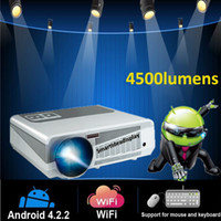 Wholesale Factory supply Professional Home Theater Built in Android LED Wifi RJ45 lumens HD P LCD Video RJ45 SD HDMI USB TV Projector