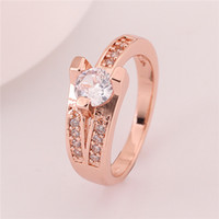 Wholesale Fashion k gold jewelry rings wedding jewelry gold lovers rings jewelry rings rose gold plated gift jewelry lovers rings