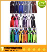 Wholesale new colourful elastic belt Y back Suspenders Clip on Adjustable Unisex Pants Y back Suspender Braces Black Elastic belt belts belt belts g
